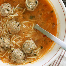 Meatball and Spaghetti Soup