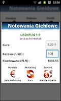 Screenshot of Notowania Giełdowe GPW +Widget