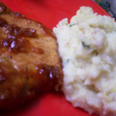 Cornbread Mashed Potatoes With Spring Onions