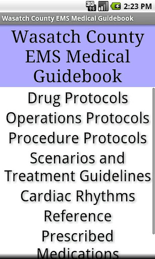 Wasatch County EMS Guidebook