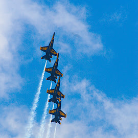 Going Up! by Clifford Krous - Transportation Airplanes ( vertical heights, airplane, aircraft, air show, blue angels,  )