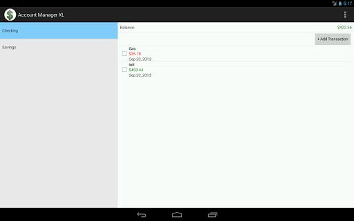 Account Manager XL - screenshot