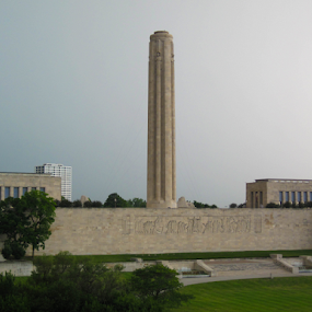 Liberty Memorial  by Del Candler - Buildings & Architecture Statues & Monuments ( world war i, kansas city, egyptian revival style, limestone structure, monument )