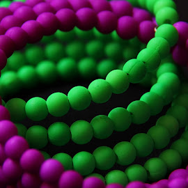 Color Twist by Deepa Sarathy - Artistic Objects Clothing & Accessories ( color, green, twist, pink, closeup )