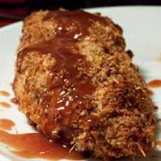 Pecan Crusted Chicken With Raspberry Drizzle