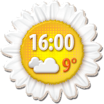 Spring Weather Clock Widget APK Image
