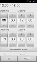 Screenshot of My Opening Hours Pro