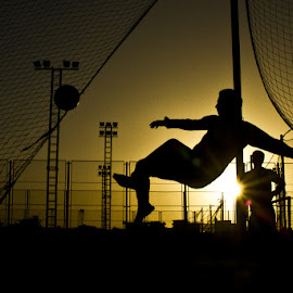 i'm a player by Ahmed Waheed - Sports & Fitness Soccer/Association football ( sinai, ball, player, foot, silhouette )