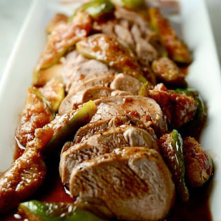 Roasted Pork Tenderloin with Fresh Fig Sauce