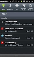 Screenshot of Statusbar Day of Month