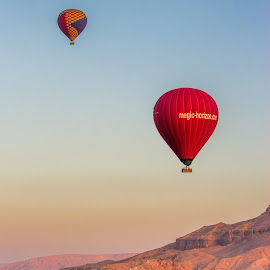 Balloon flight by Vibeke Friis - Transportation Other ( mountains, balloon )