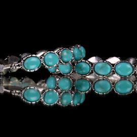 by Dipali S - Artistic Objects Jewelry ( ear, blue, jewelry, teal, women, earrings, hoops )