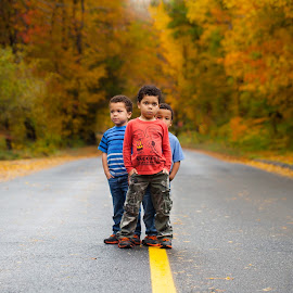 Street Kids by Keith Roselle - Babies & Children Child Portraits ( canon, colorful, foliage, fall, kids, portrait,  )