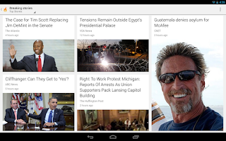Screenshot of Google Currents