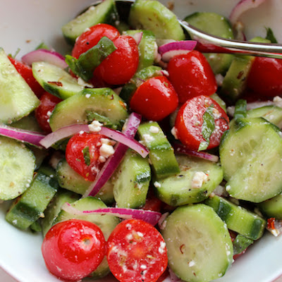 Summer Tomato Cucumber Salad