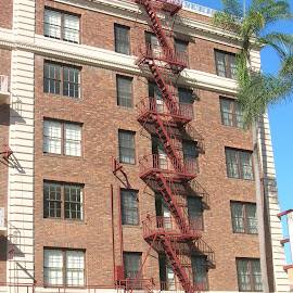 Zig Zag Escape by Linda McCormick - Buildings & Architecture Other Exteriors ( zag, fire!, down fast!, architecture, zig )