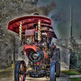 Dreadnaught by Dez Green - Transportation Other ( traction engine, hdr, transportation, dreadnaught, historic, steam,  )