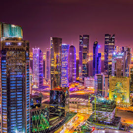 doha skyline by Doc Gio Gange Dmdrn - Buildings & Architecture Office Buildings & Hotels