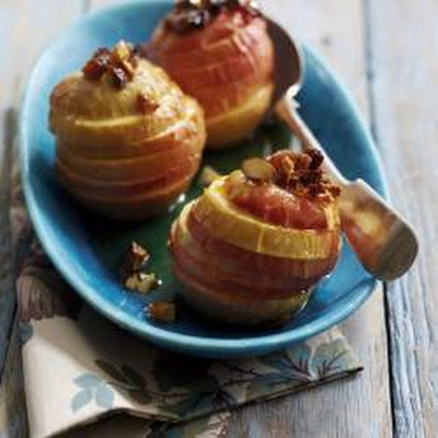 Roasted Pink Lady apples