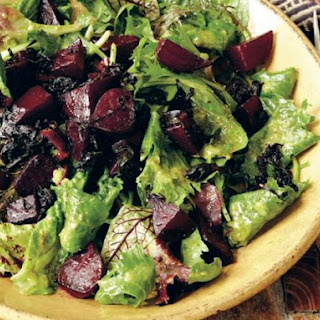 Braised Beet Salad with Golden Raisin Vinaigrette from 'Indian Cooking Unfolded'