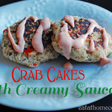 Crab Cakes with Creamy Sauce