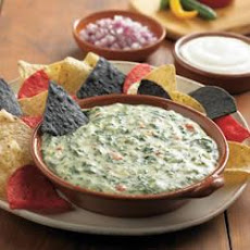 Festive Spinach Queso Dip