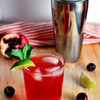 Cherry Pomegranate Mojito