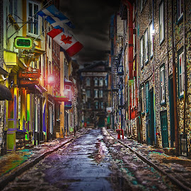 Old Quebec City street by Marc-André Riopel - City,  Street & Park  Street Scenes (  )