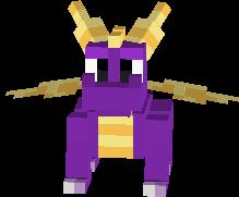Spyro The Dragon  Spyro Minecraft Skin