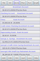 Screenshot of J&L Financial Planner