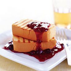 Grilled Pound Cake with Warm Berry Sauce