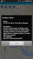 Screenshot of VDOT 511 Virginia Traffic
