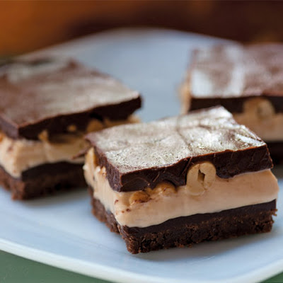 Peanut Maple Fudge Bars