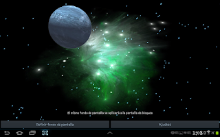 Screenshot of 3D Galaxy Live Wallpaper HD