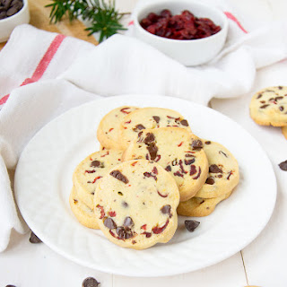 Slice And Bake Chocolate Orange Cranberry Cookies