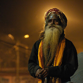 Ganga Arti by Rose Hawksford - People Portraits of Men