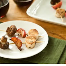 Mushroom, Radish and Hearts of Palm Skewers