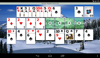 Screenshot of Patience Revisited Solitaire