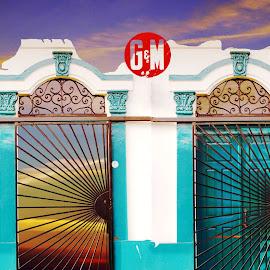 G&M by Joerg Schlagheck - Digital Art Things ( doors, g&m, fancy, green, unlikely, iron, sky.,  )