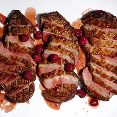 Duck with Raspberries (Canard aux Framboises)