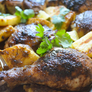Jamaican Chicken with Pineapple and Rum