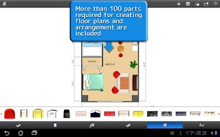 Screenshot of ROOM+ for Tablet [Floor plans]