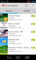 Screenshot of Learn English Podcasts
