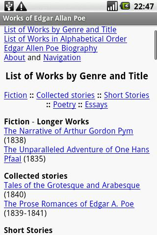 Works of Edgar Allan Poe
