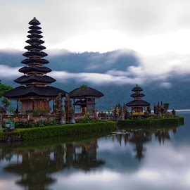 Peace on Earth by Anna Varona - Buildings & Architecture Places of Worship ( temple, bali, indonesia, asia, ulundanu, danu, ulun )