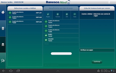 BanescoMóvil Dominicana Tablet- screenshot thumbnail
