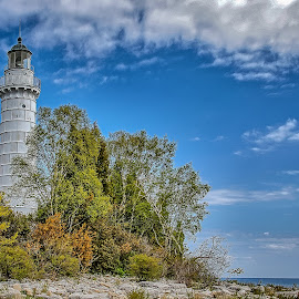 Cana Island Lighthouse by Ron Meyers - Transportation Other