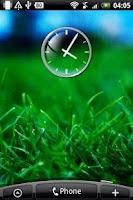 Screenshot of Glass Clock Widget 2x2