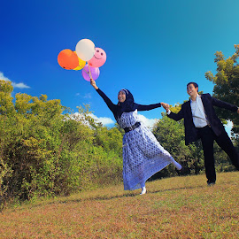 Fly  by Nandy Photograf - Wedding Other ( wedding, bride, groom, people )