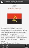 Screenshot of Constituição República Angola